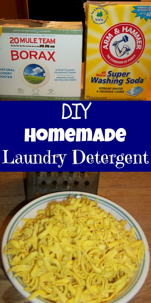 My homemade laundry detergent recipe is just what you need to live a more frugal life with less harmful chemicals. You'll now KNOW what your clothes are being washed in, plus make TRIPLE the amount! #diydetergent #homemadedetergent #diy