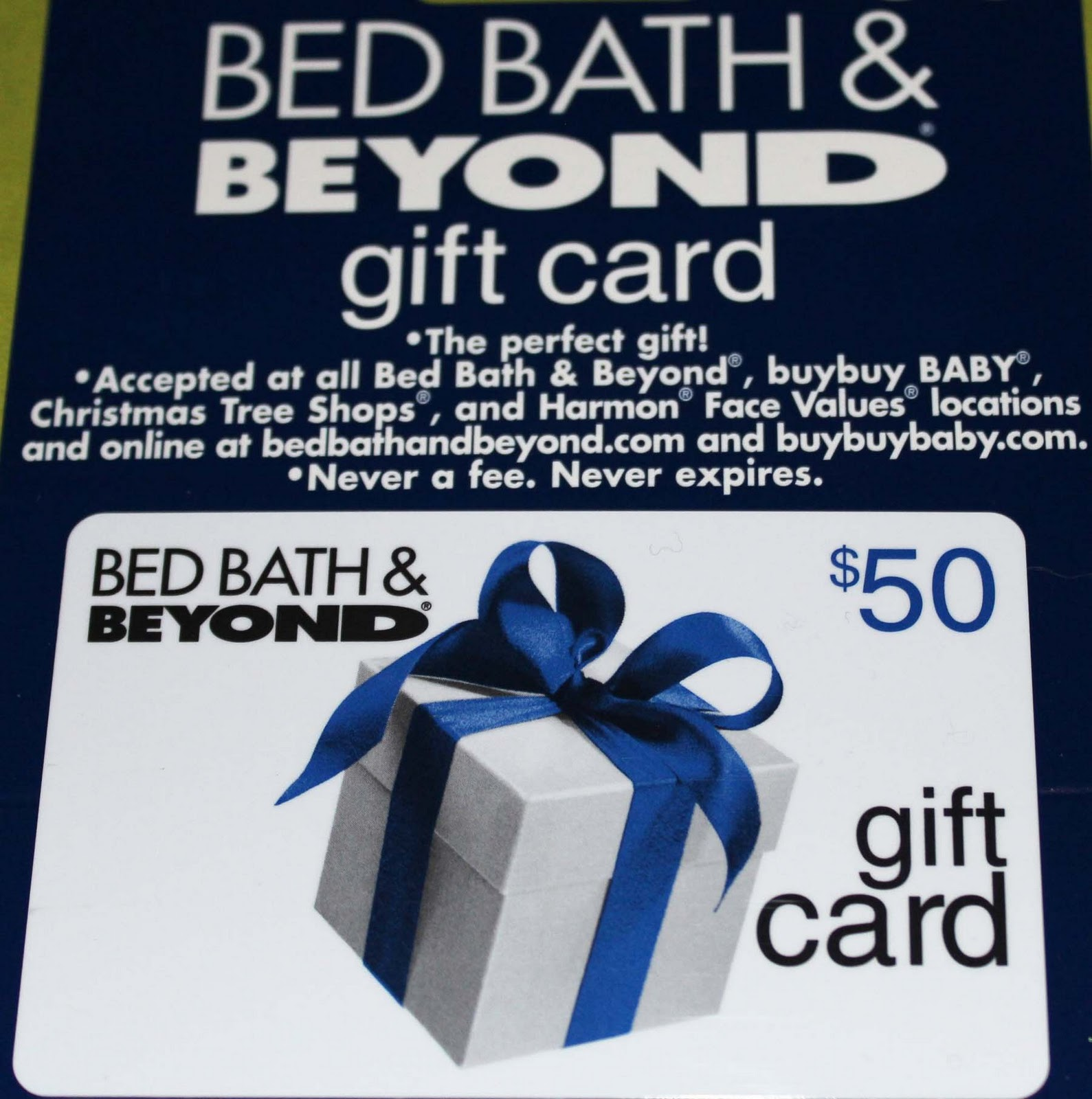 bedbathandbeyond gift card 50 bed bath and beyond flash giveaway acadiana s 6776