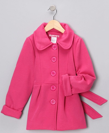 New Girls Fancy Pea Coat. Coat has double breasted button closure and long sleeves. This beautiful double-breasted coat is a must have item for every girls wardrobe!