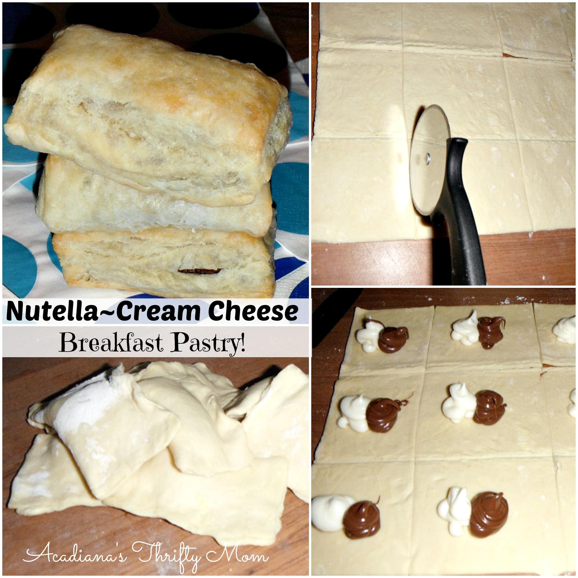 nutella cream cheese breakfast pastry