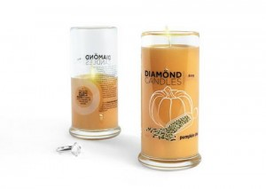 diamond candle pumpkin