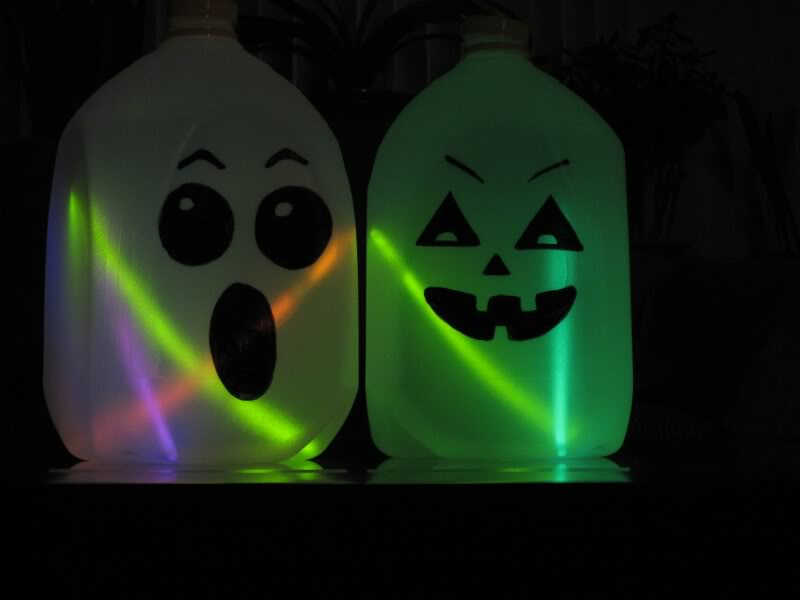 milk jug jack o lanterns - Milk Carton Halloween Ghosts