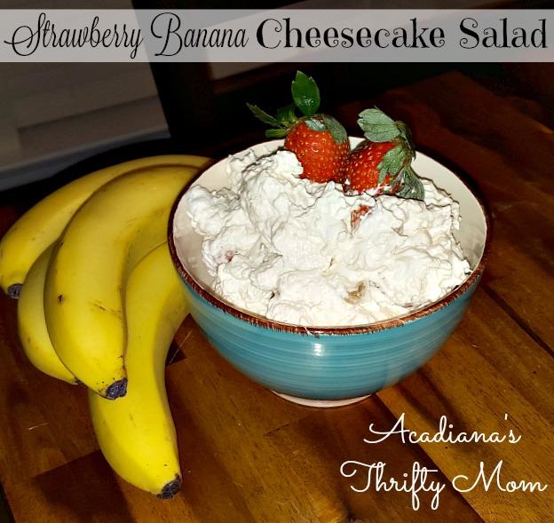 strawberry banana cheesecake salad