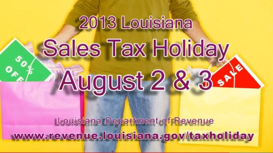 louisiana sales tax holiday