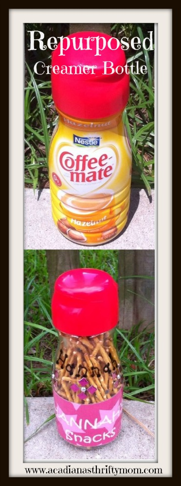 repurposed creamer bottle