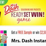 mrs dash instant win game