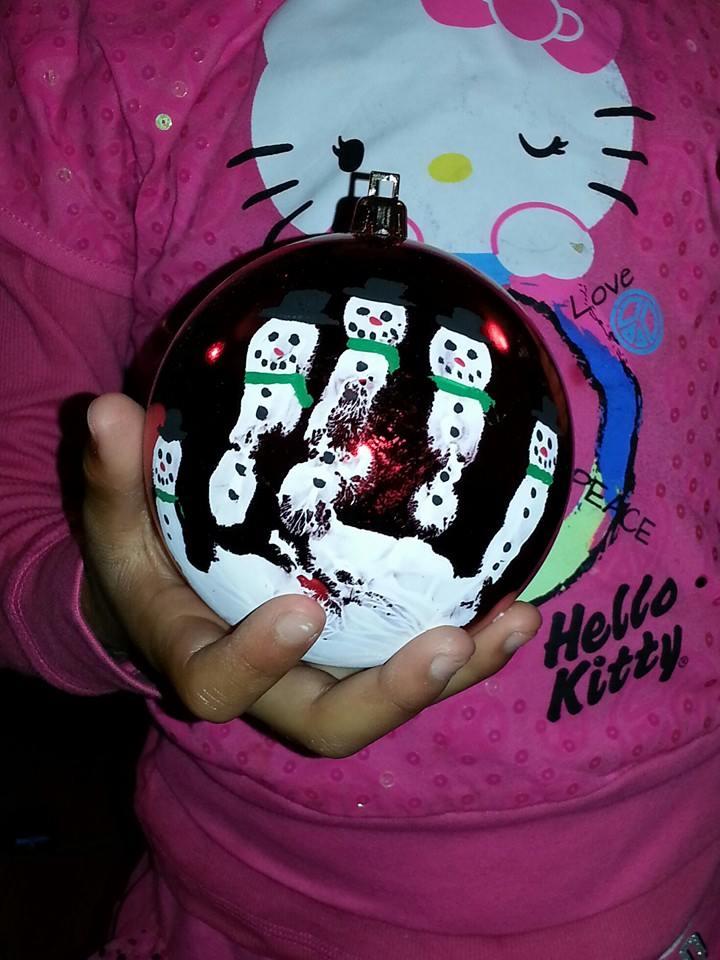 Handprint Snowman Ornament by Acadianas Thrifty Mom