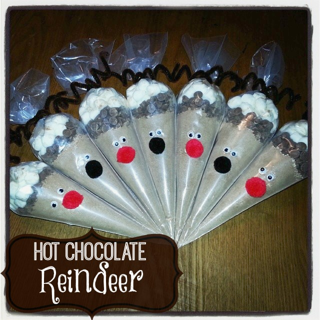 hot chocolate reindeer
