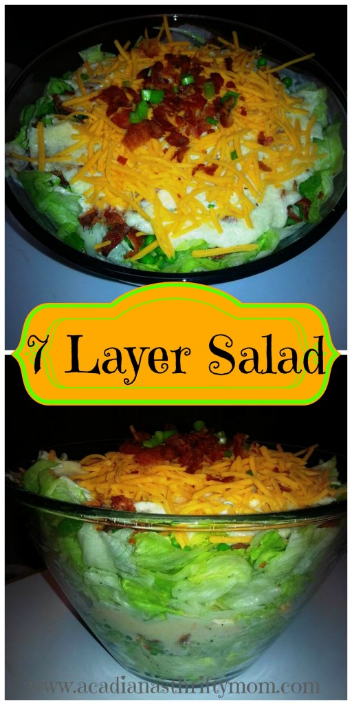 7 layer salad Collage