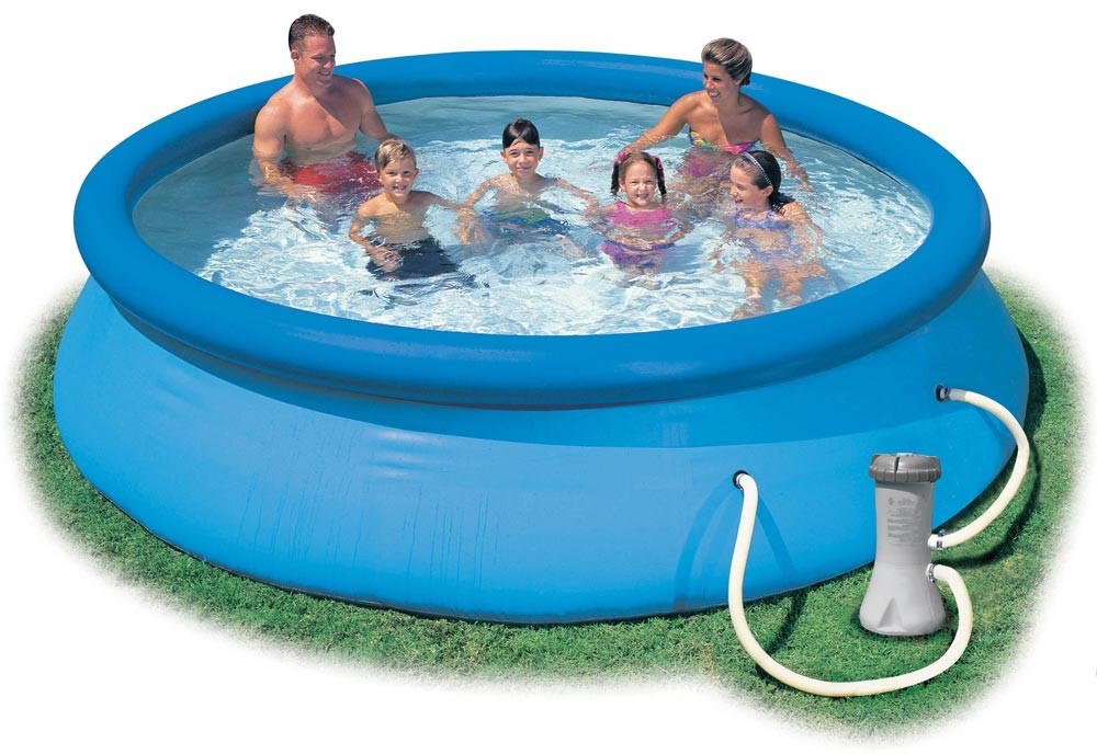 Win an intex easy set round pool acadiana 39 s thrifty mom for Easy set up above ground swimming pools