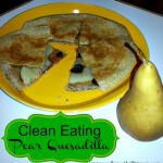 pear quesadilla button