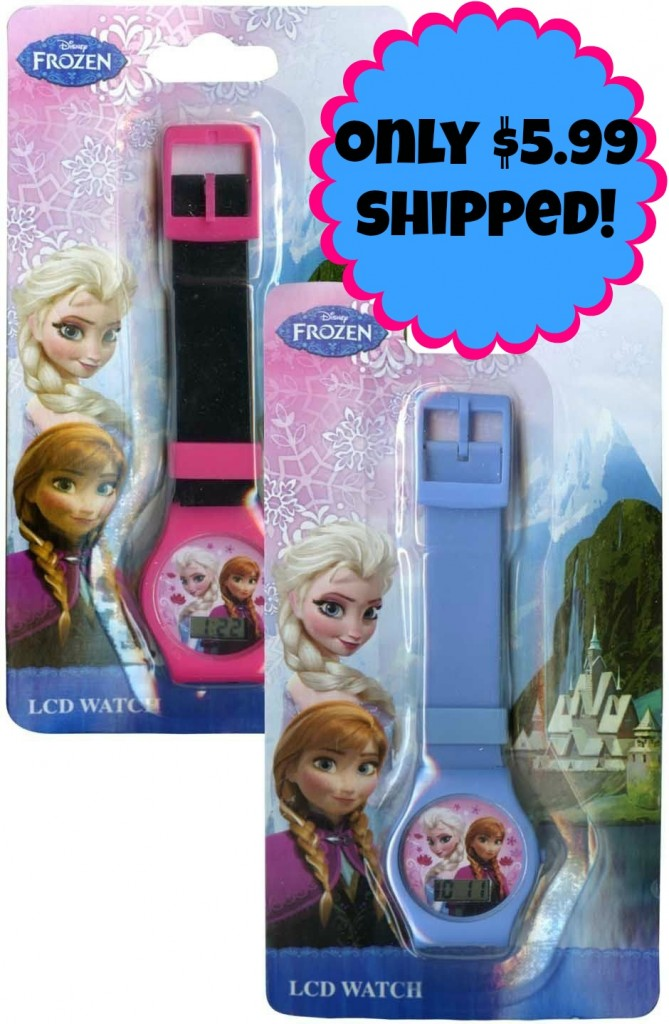 elsa and anna watches button