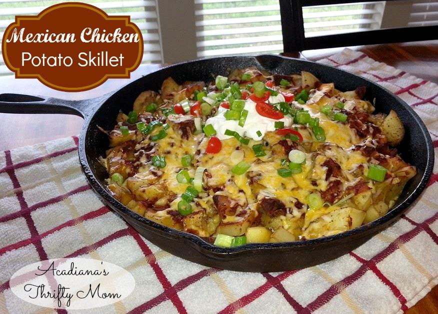 Mexican Chicken Potato Skillet