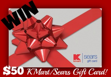 sears kmart gift card button $50 Kmart or Sears Gift Card Giveaway