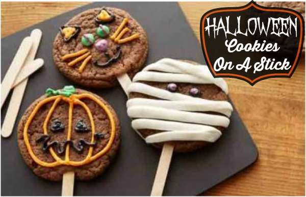 halloween cookies on a stick