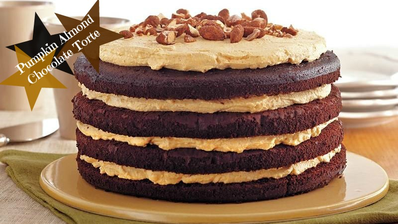 pumpkin almond chocolate torte