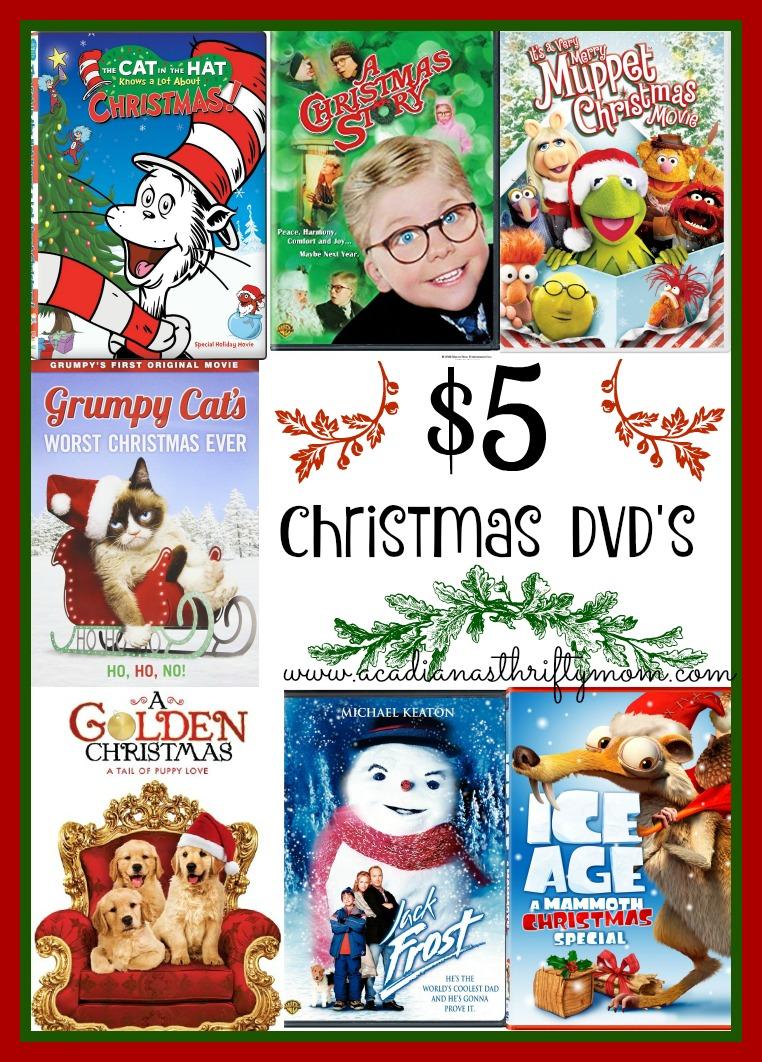$5 christmas dvd Collage