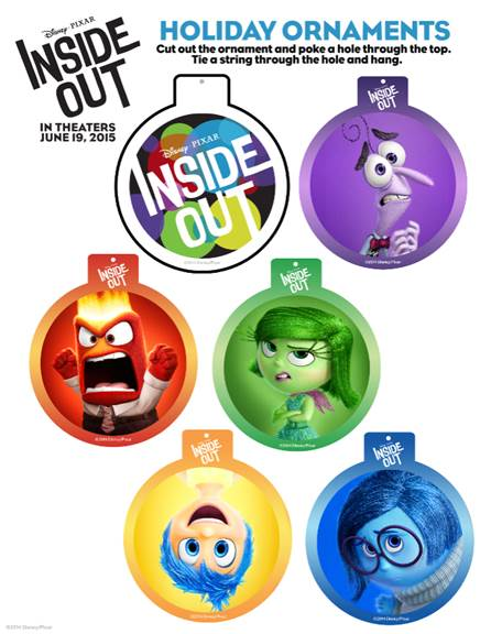FREE INSIDE OUT Holiday Ornament Activity Sheets We Are Printing Coloring This Morning