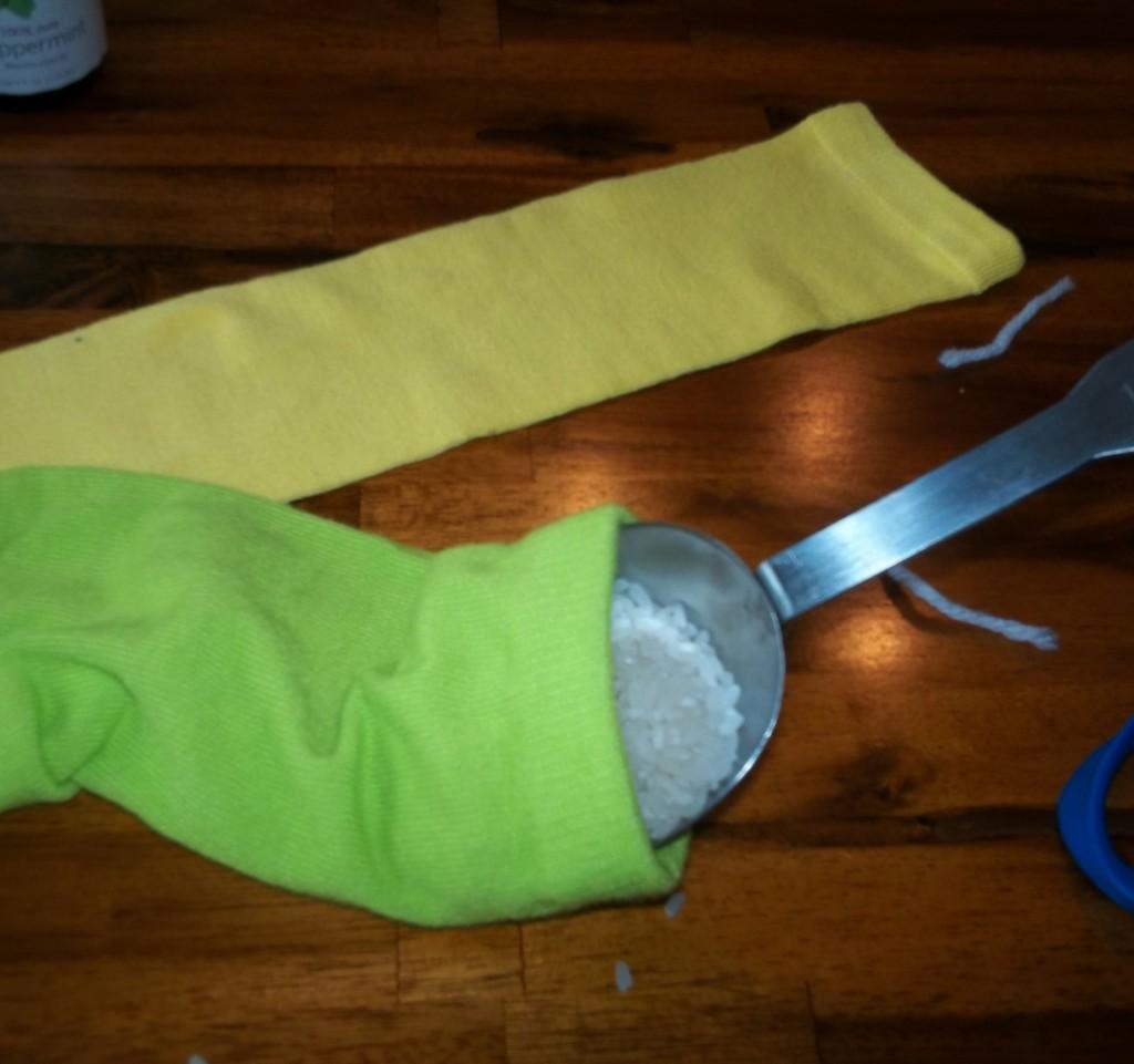 Easy DIY No Sew Rice Heating Pad