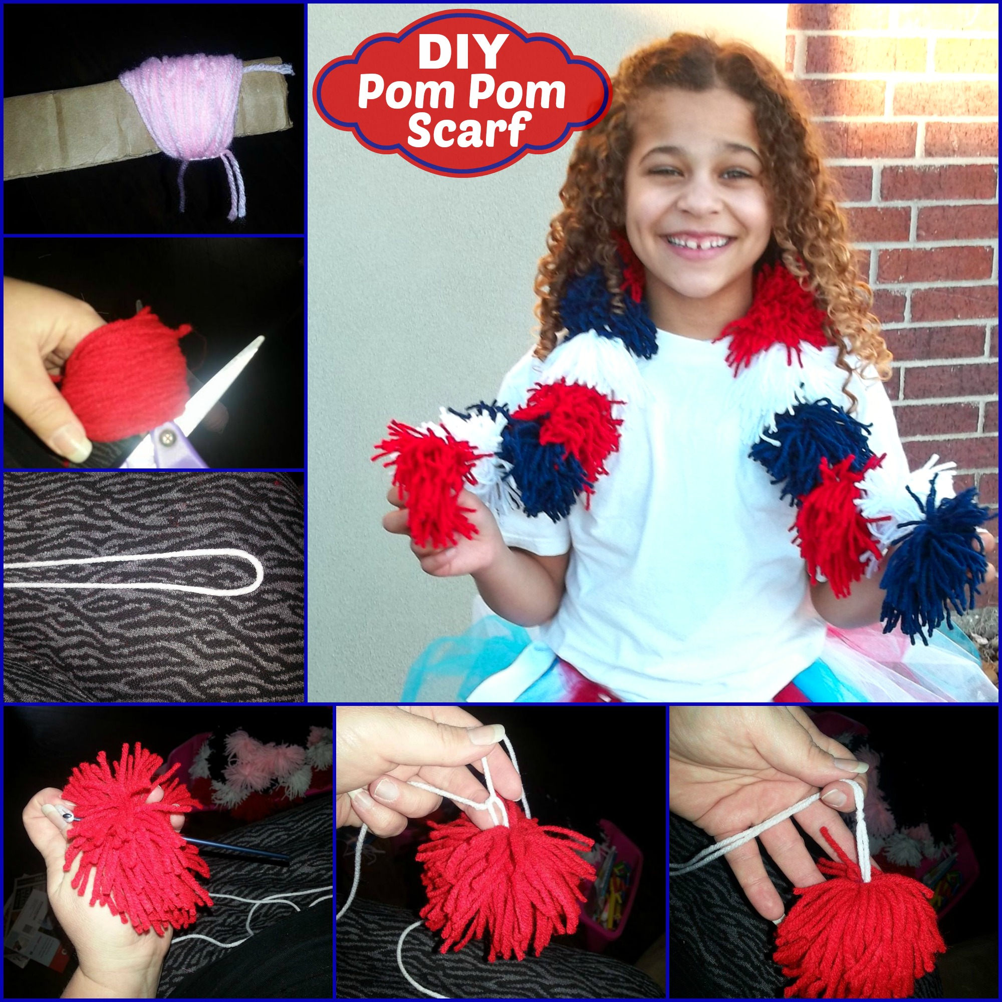 diy pom pom Collage