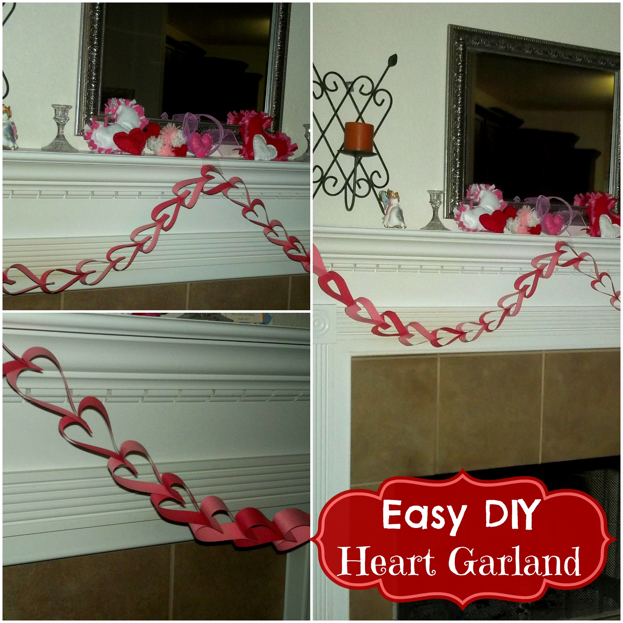 heart garland Collage