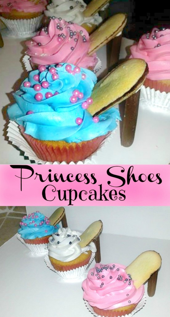 princess shoes cupcakes
