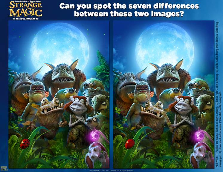 strange magic spot the difference pic