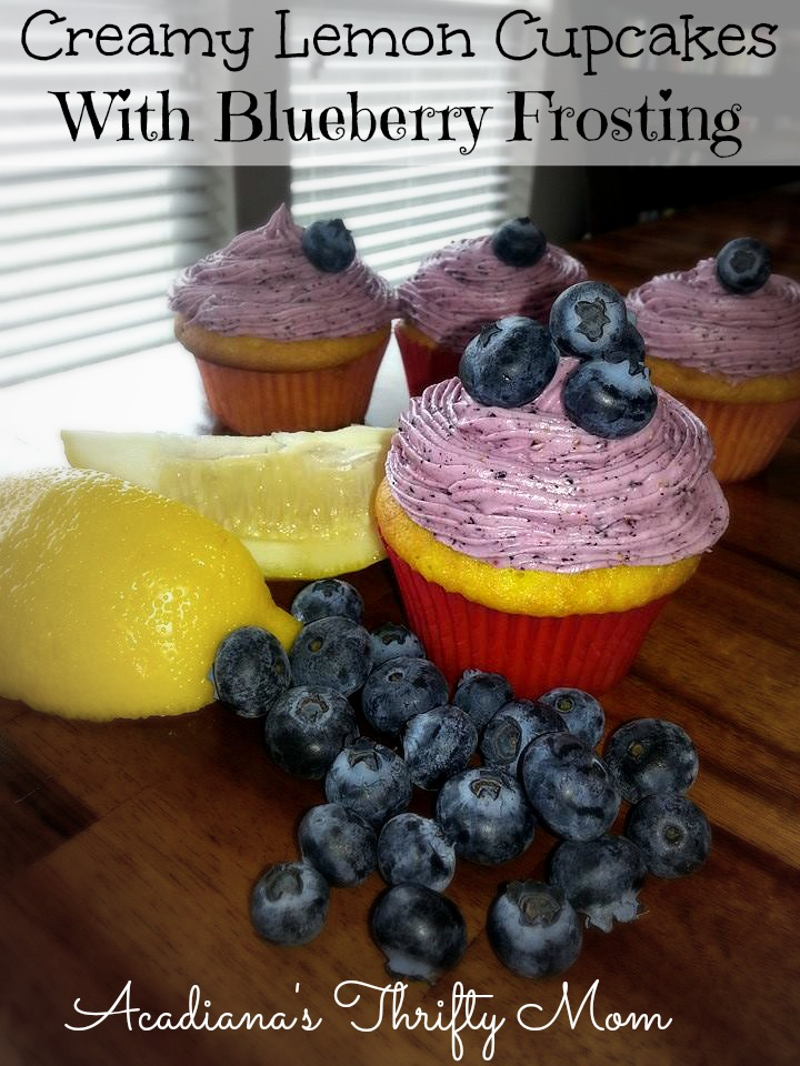 Creamy Lemon Cupcakes With Blueberry Frosting - Acadiana's ...