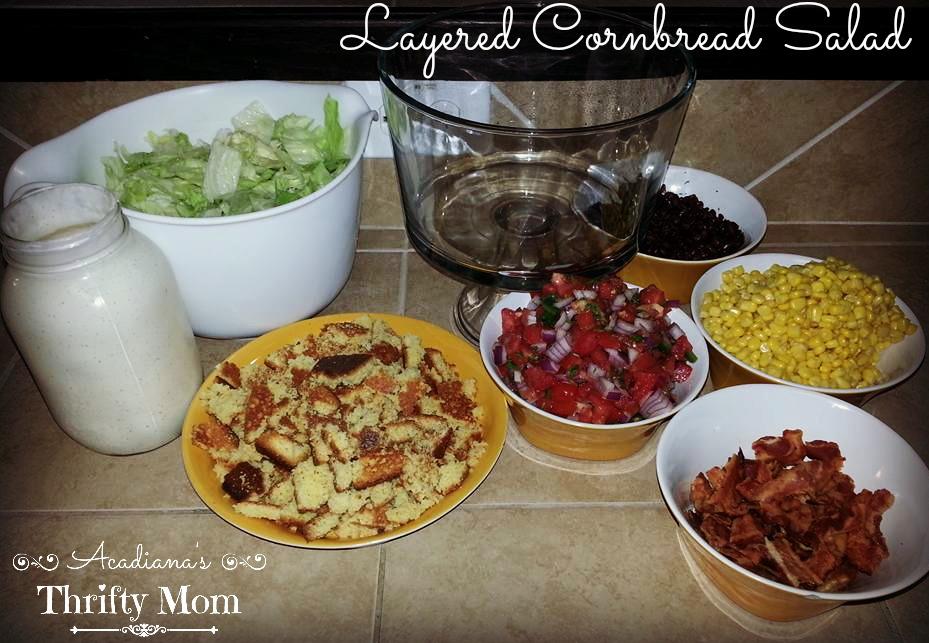 Layered Cornbread Salad #SaveALotInsiders