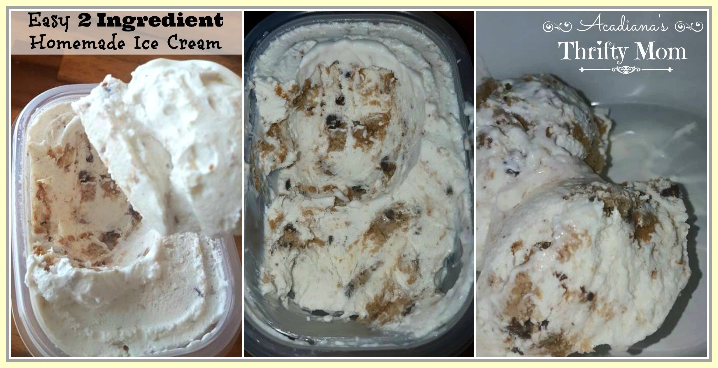 Easy 2 Ingredient Homemade Ice Cream