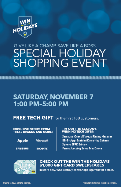 special holiday event best buy