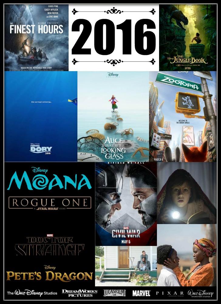 Disney Movies Slated To Release In 2016 #DisneyMovies