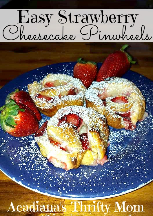 Easy Strawberry Cheesecake Pinwheels