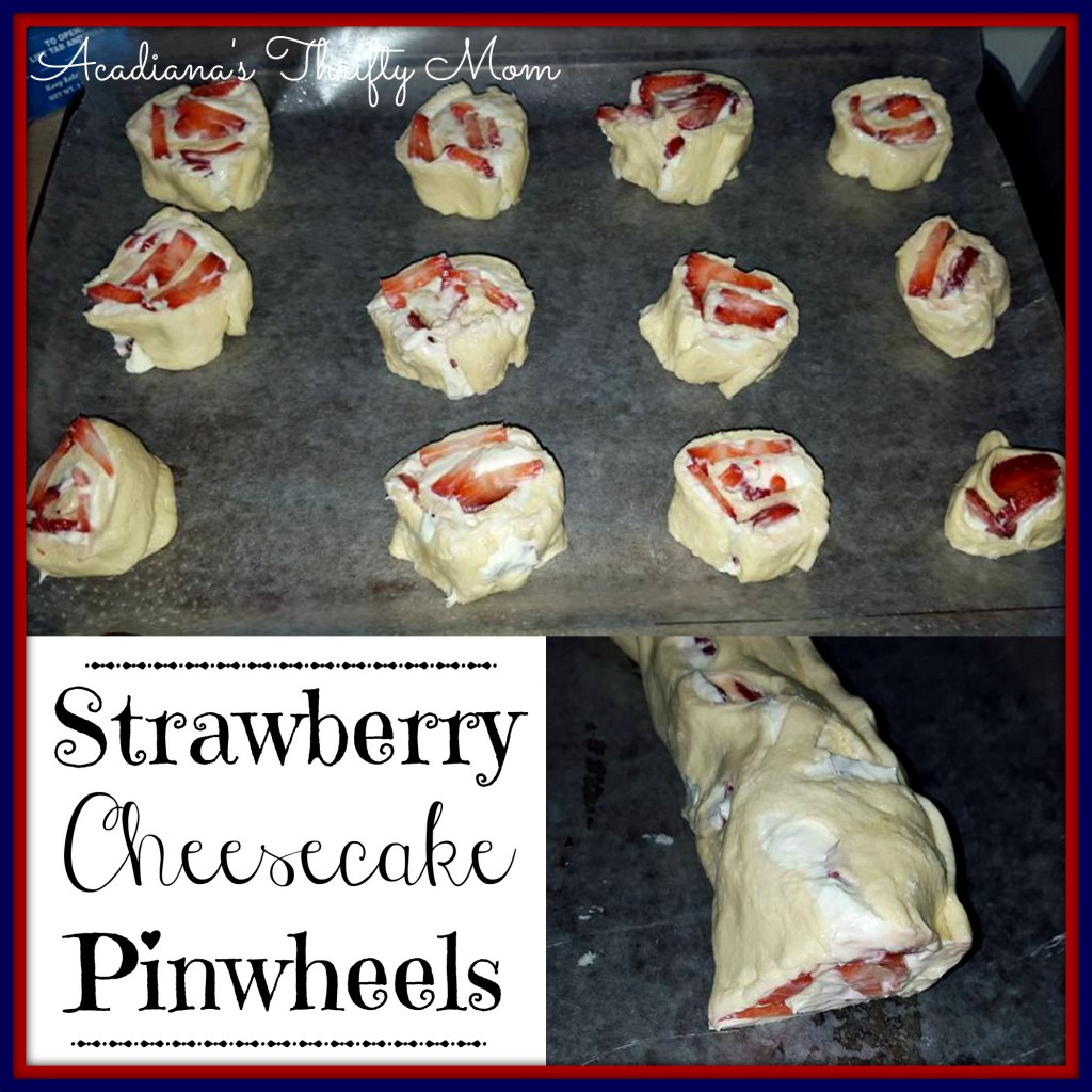 strawberry cheesecake pinwheel
