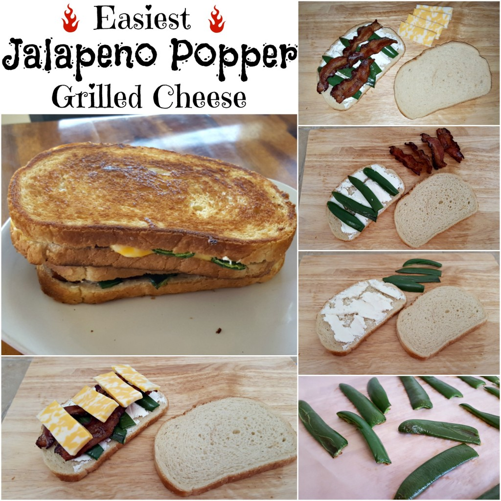 Easiest Jalapeno Popper Grilled Cheese