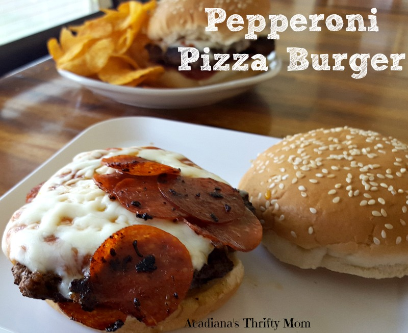 Crazy Good Pepperoni Pizza Burgers