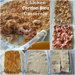 chicken cordon bleu casserole Collage
