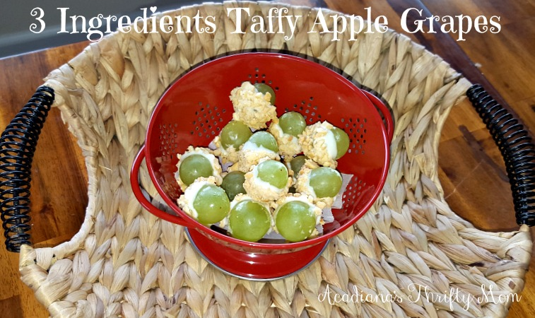 3 Ingredient Taffy Apple Grapes