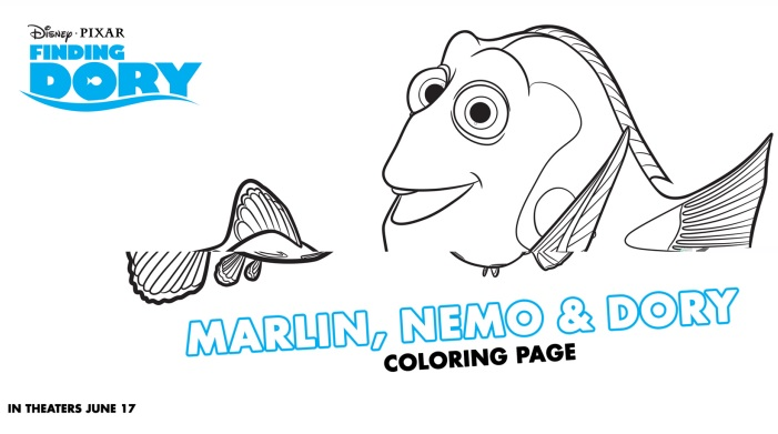 New Disneys Finding Dory Coloring Sheets