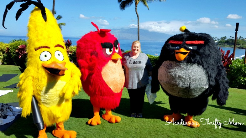 Stress Relief Yoga With The Angry Birds #AlohaAngryBirds