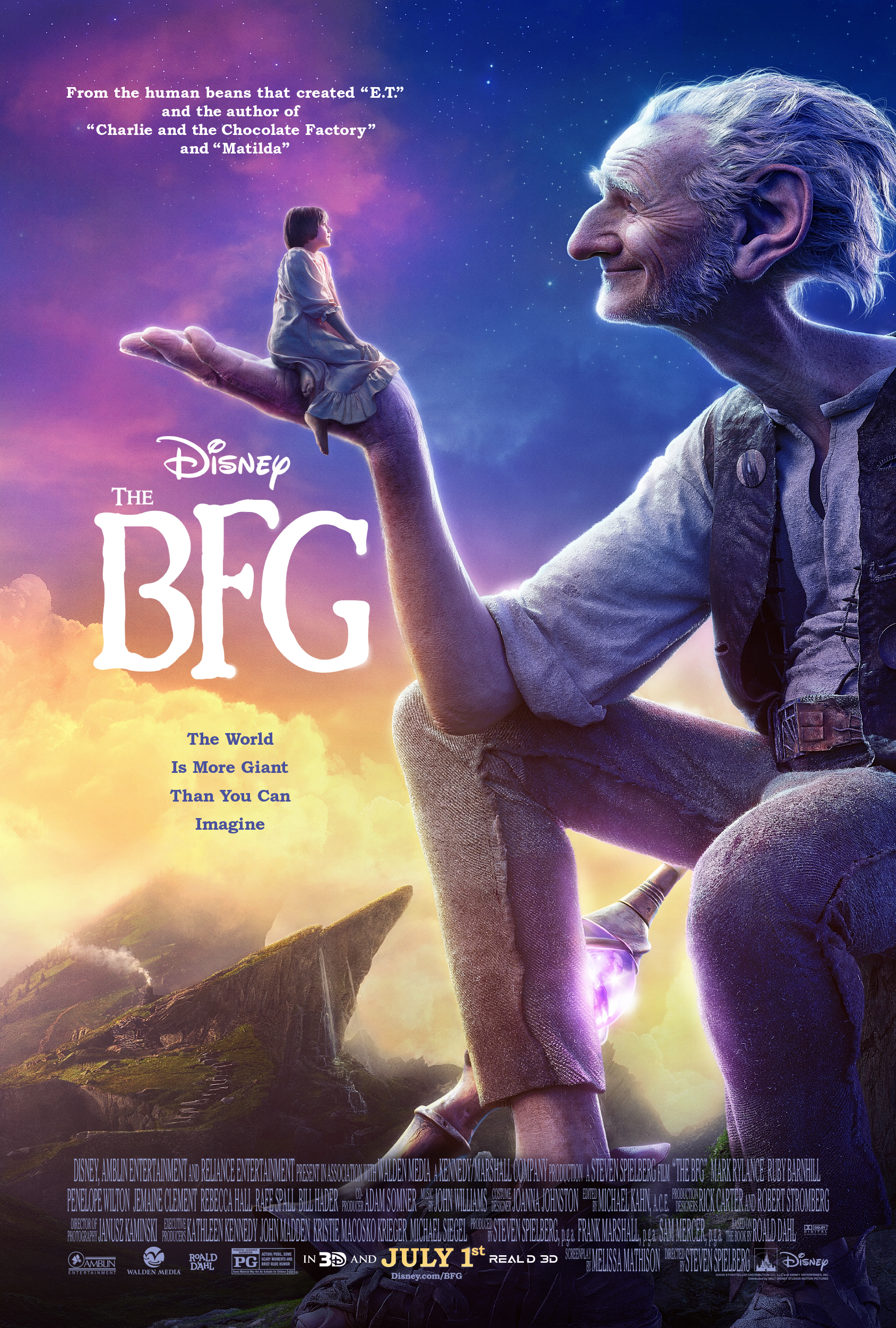 New Poster and Trailer For The BFG #TheBFG
