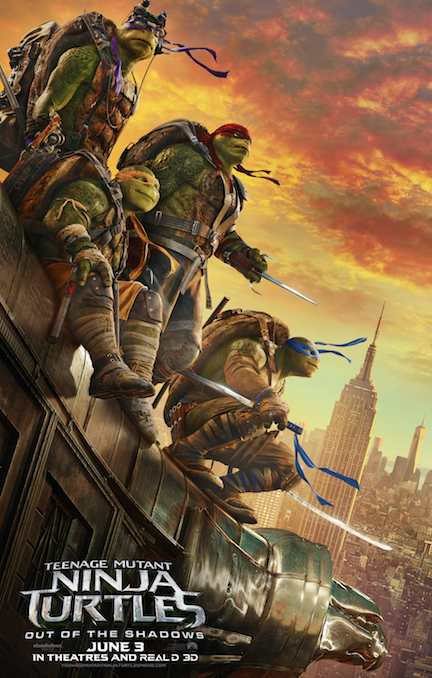 New Trailer for Teenage Mutant Ninja Turtles: Out of the Shadows #TMNT2