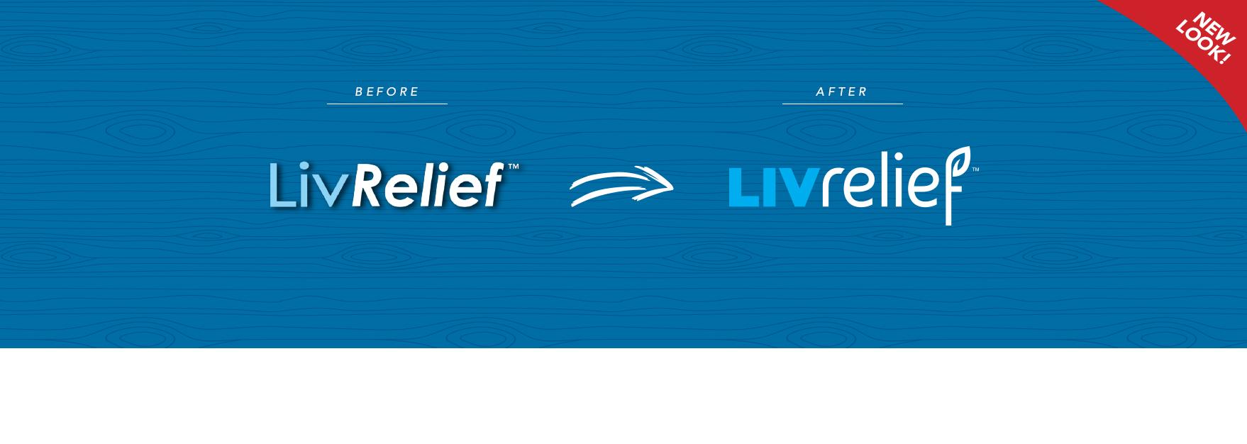 LivRelief Old to New Logo