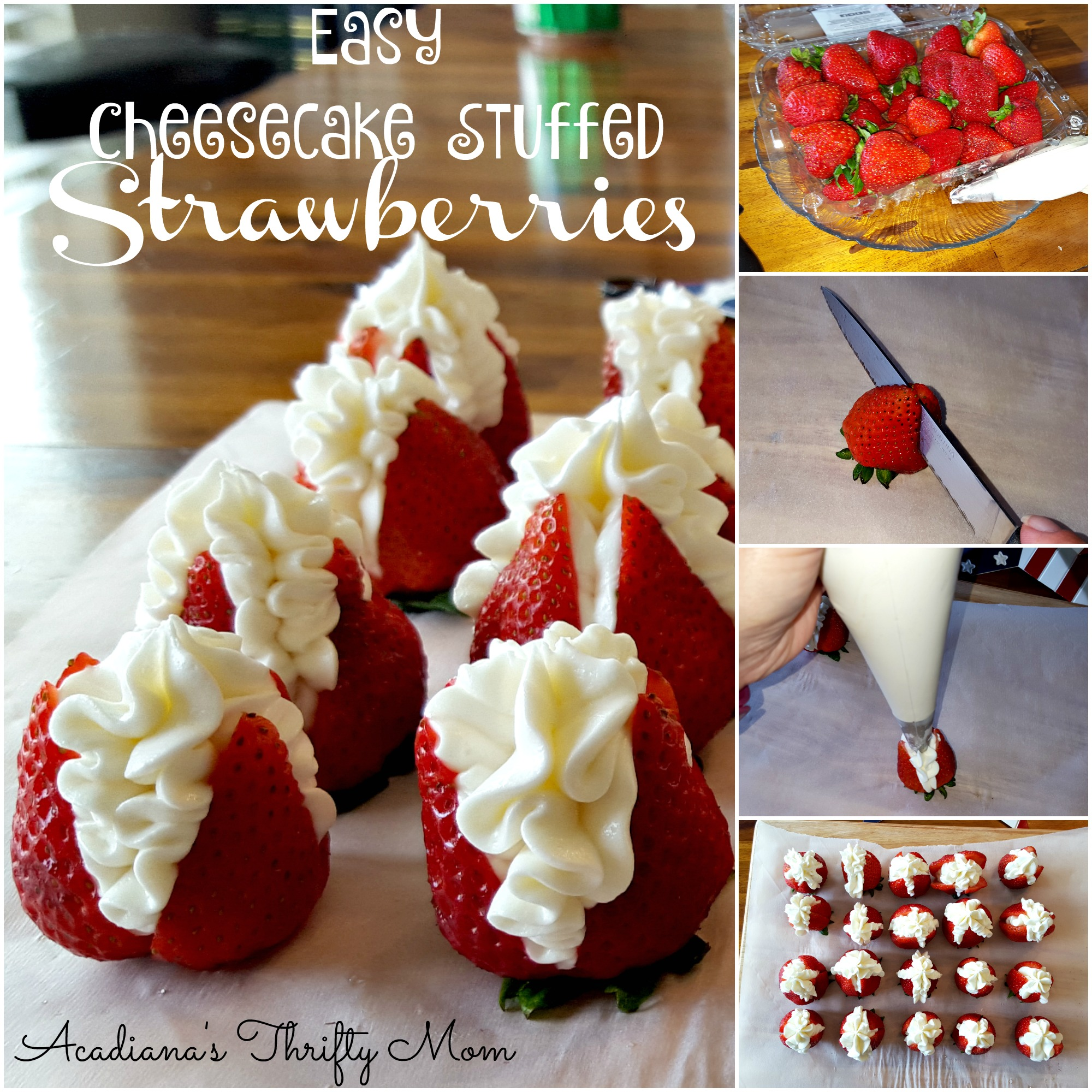 Easy Cheesecake Stuffed Strawberries