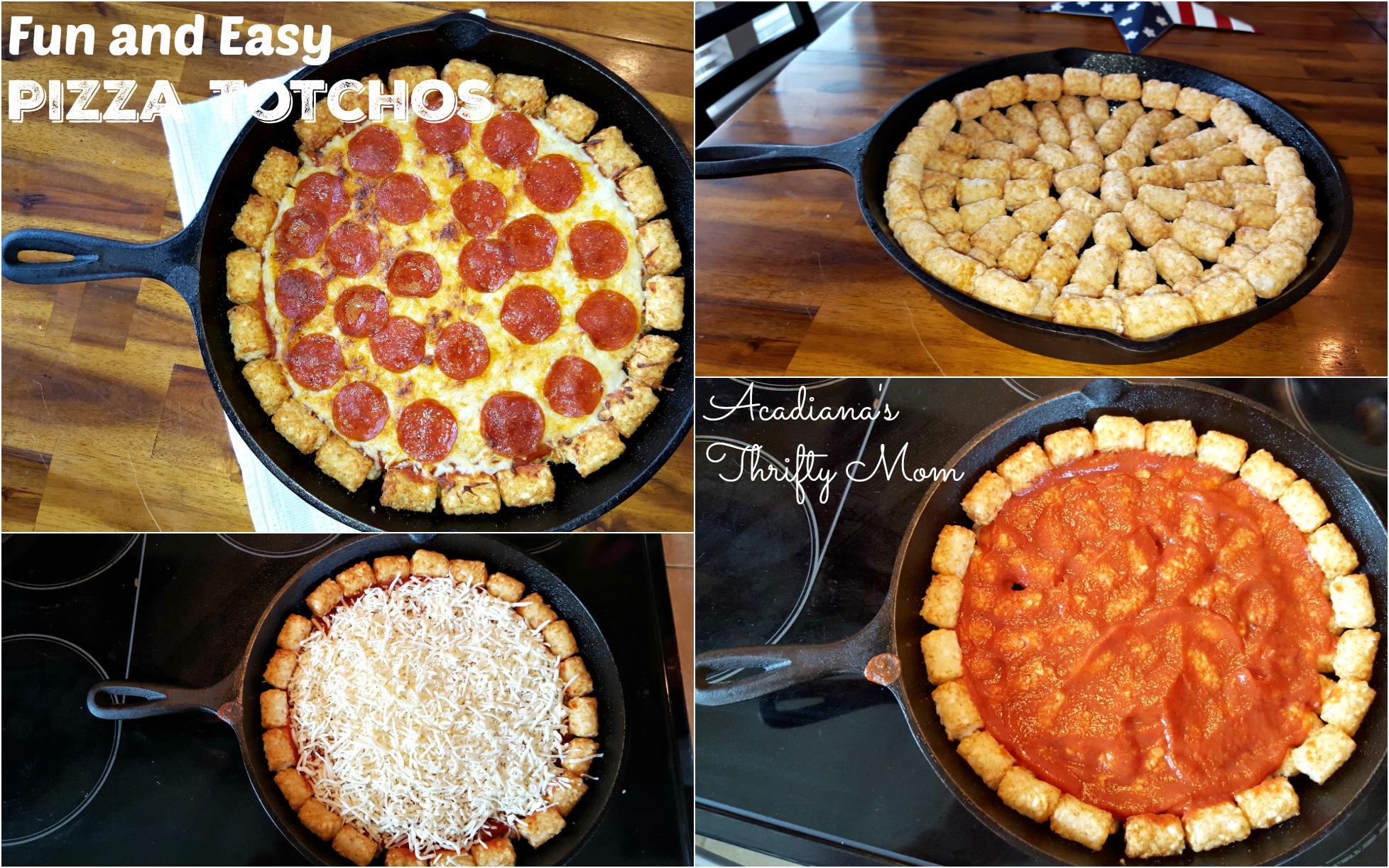 pizza totchos Collage