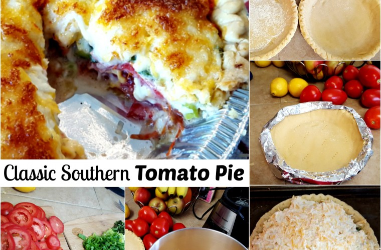 tomato pie Collage