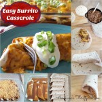 burrito casserole Collage