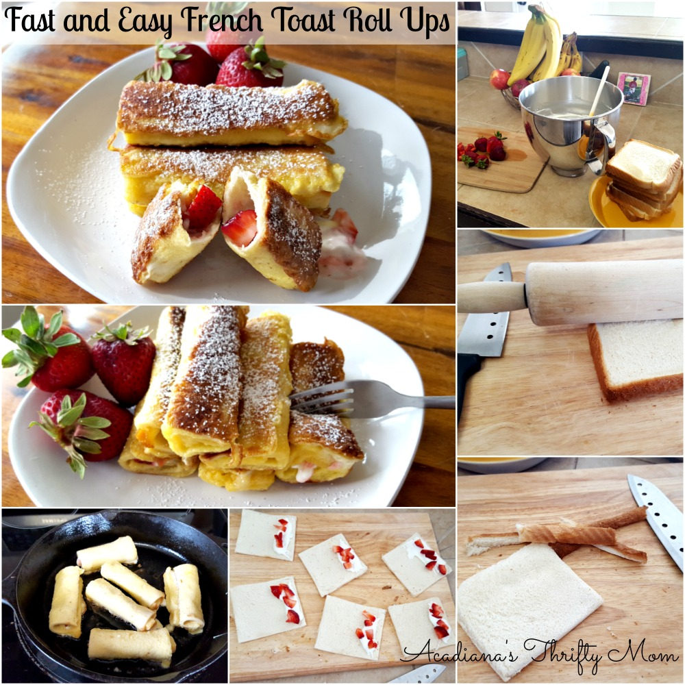 Fast and Easy French Toast Roll Ups