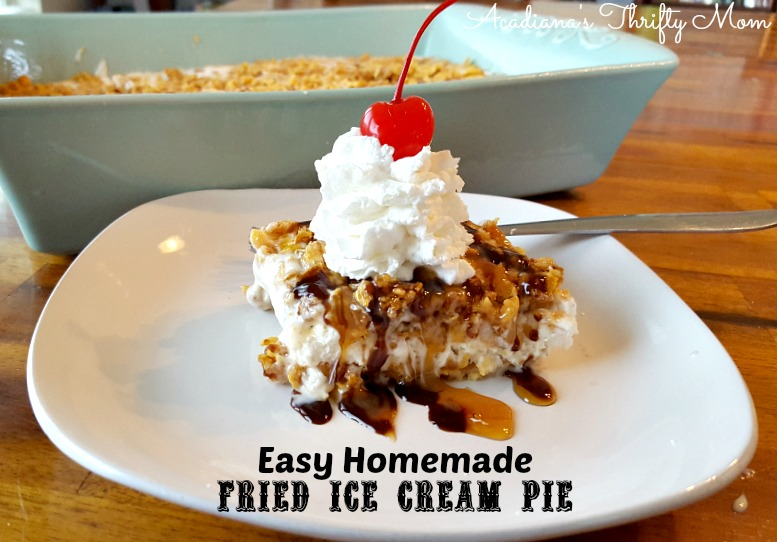 Easy Homemade Fried Ice Cream Pie
