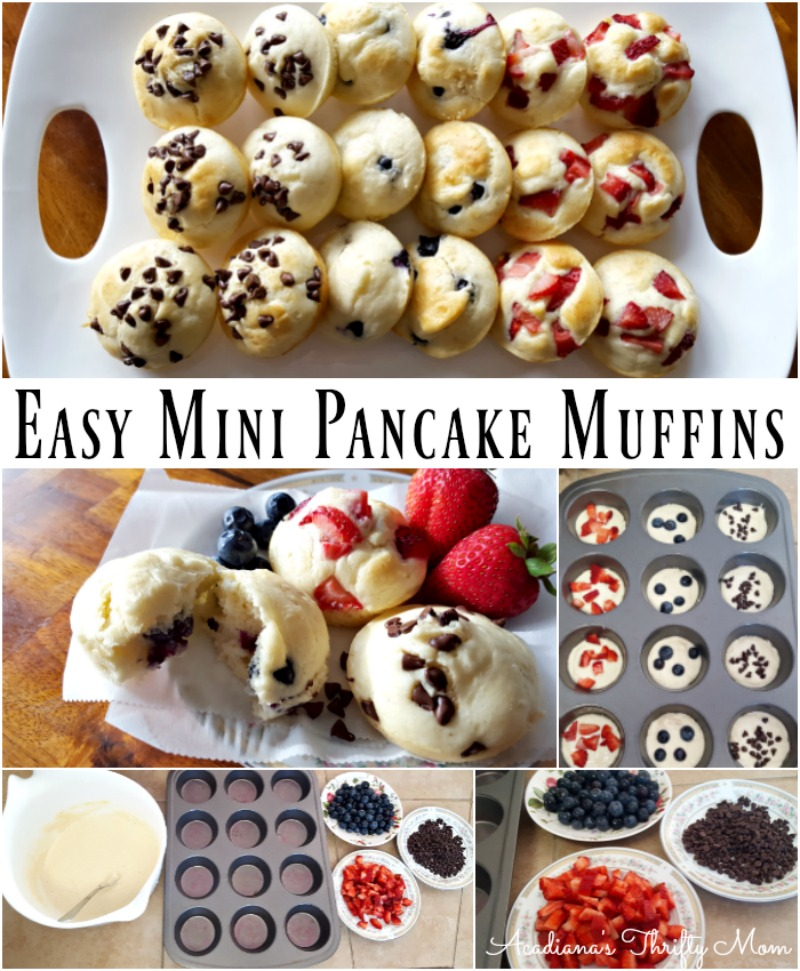 pancake muffin Collage